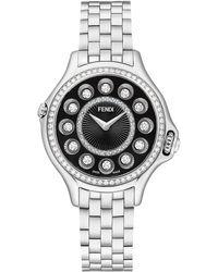 Fendi Women's Crazy Carats Quartz Bracelet Watch, 33mm - Metallic