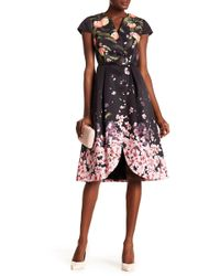 Ted Baker - Peach Blossom Pleated Fit & Flare Dress - Lyst