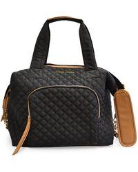Adrienne Vittadini Quilted Duffel Bag - Black