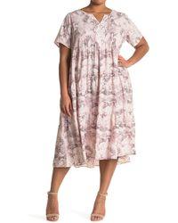 West Kei Woven Short Sleeve Babydoll Dress - Pink