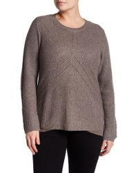 Lucky Brand - Niko Metallic Knit Pullover (plus Size) - Lyst