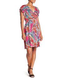 Spense - Surplice V-neck Print Dress - Lyst