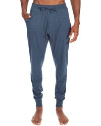 Unsimply Stitched Lightweight Soft Knit Sweatpants - Blue