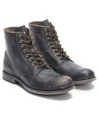 Frye Tyler Leather Lace-up Boot - Black