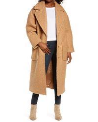 UGG UGG Hattie Long Faux Fur Coat - Natural