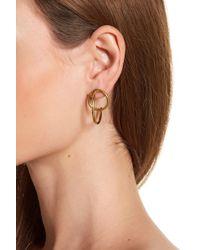 Soko - Globe Criss-cross Hoop Jacket Earrings - Lyst