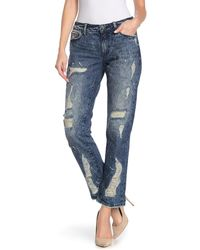 Rock Revival Slouchy Straight Jeans - Blue