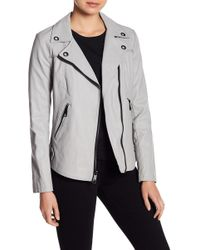 Guess - Faux Leather Jacket - Lyst