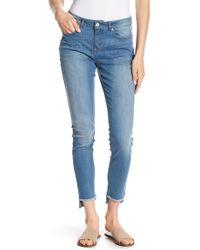 William Rast - Perfect Step Hem Skinny Jeans - Lyst