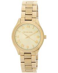 MICHAEL Michael Kors - Women's Slim Runway Bracelet Watch, 33mm - Lyst