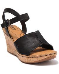 Born Agnio Wedge Sandal - Black