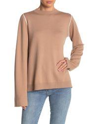 Michael Stars Reversible Mock Neck Long Sleeve Shirt - Multicolor