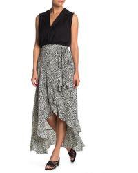 Nanette Nanette Lepore Leopard Print High/low Wrap Skirt - Multicolor
