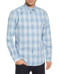 Calibrate - Trim Fit Plaid Sport Shirt - Lyst