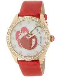 Betsey Johnson Women's Crystal Pave Glitter Strap Watch, 40mm - Multicolour