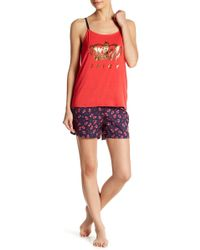 Juicy Couture - Pajama Tank Top & Shorts 2-piece Set - Lyst