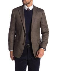 Brooks Brothers - Brown Windowpane Two Button Notch Lapel Wool Regent Fit Blazer - Lyst