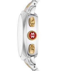 Michele Women's Ascalon Diamond Two-tone Bracelet Watch - Metallic