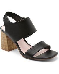 Kensie - Eliana Block Heel Leather Sandal - Lyst