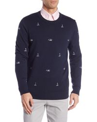 Brooks Brothers - Embroidered Crew Neck Sweater - Lyst