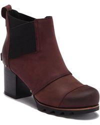 Sorel Addington Waterproof Leather Chelsea Bootie - Multicolour