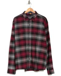 Tailor Vintage Airotec Performance Stretch Flannel Shirt - Red