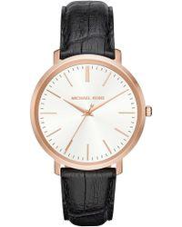 Michael Kors - Women's Jaryn Croc Embossed Leather Watch, 41.5mm - Lyst