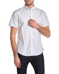 Wallin & Bros. Slim Fit Short Sleeve Oxford Shirt - White