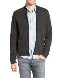 Billy Reid Giles Slim Fit Zip-up Sweatshirt - Black