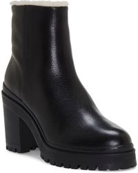Rebecca Minkoff Milana Genuine Shearling Boot - Black