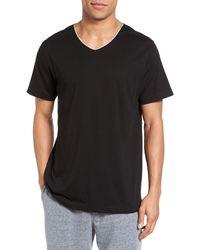 Daniel Buchler Peruvian Pima Cotton V-neck T-shirt - Black