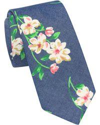 Original Penguin Bal Floral Print Tie - Pink