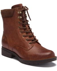 Born - Bay Leather Lace-up Boot - Lyst