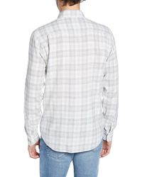 Faherty Brand Everyday Plaid Regular Fit Shirt - Gray