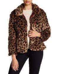 Fate - Faux Fur Leopard Print Jacket - Lyst