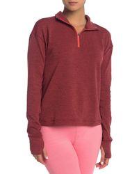 Outdoor Voices Ov Fleece Half Zip Pullover - Red