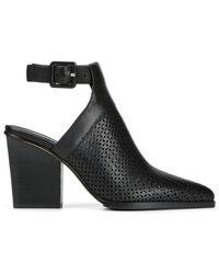Donald J Pliner Varen Heel Cutout Perforated Bootie - Black