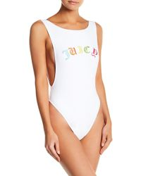 Juicy Couture - Embroidered Juicy One-piece Swimsuit - Lyst