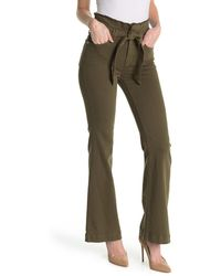 7 For All Mankind Paperbag Wide Leg Pants - Green