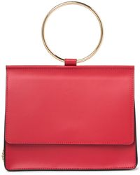 Giorgio Costa Top Handle Leather Satchel Bag - Red