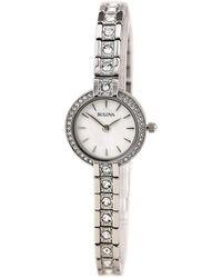 Bulova - Women's Swarovski Crystal Accented Link Bracelet Watch, 21.5mm - Lyst