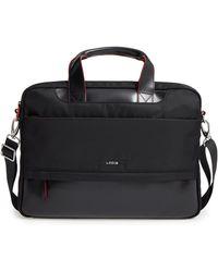 Lodis Kate Under Lock & Key Alexus Nylon & Leather Briefcase - Black