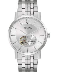 Bulova Men's Stainless Steel Automatic Watch - Metallic