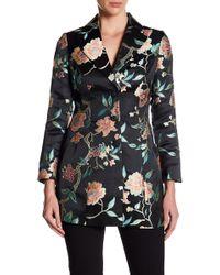 Nanette Nanette Lepore - Floral Jacquard Long Blazer - Lyst