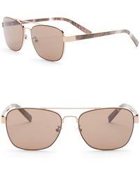Joe's Jeans - Women's Modified Aviator 56mm Sunglasses - Lyst