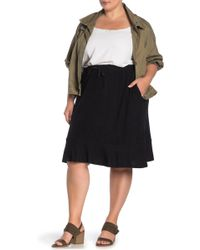 a643ddff6 B Collection By Bobeau - Renata Brushed Knit Flounce Skirt (plus Size) -  Lyst