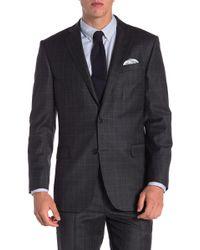 Brooks Brothers - Charcoal Windowpane Two Button Notch Lapel Explorer Regent Fit Suit Separates Jacket - Lyst