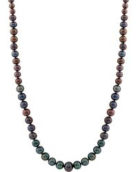 Splendid | Dyed Black 4-8mm Cultured Freshwater Pearl Necklace | Lyst