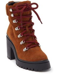 Rebecca Minkoff Maihlo Lace-up Combat Boot - Brown