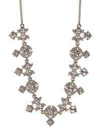 Givenchy Crystal Necklace - Metallic